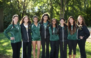 Photo by Joe Gonzalez Girls cross country recently celebrated senior night. Seniors have a big role in the team's success by guiding the underclassmen.