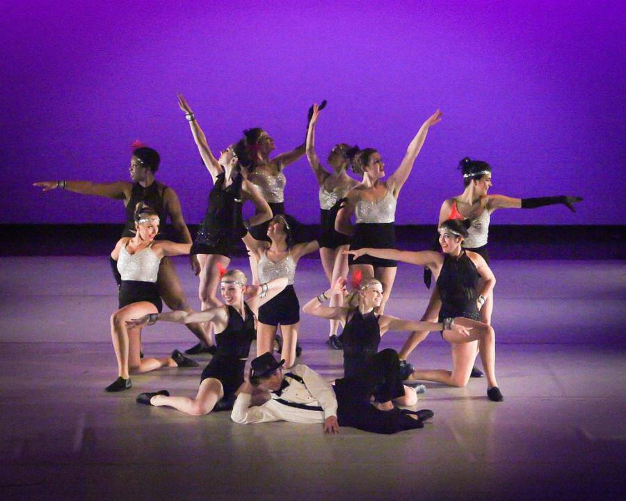 DANCING THROUGH LIFE: Orchesis dancers perform in a routine from their Feb. 26 performance.  The effort the dancers have put into their work throughout their high school careers are allowing them to make their dancing dreams become reality after high school.