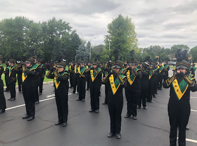 EGHS band, color guard garner September success