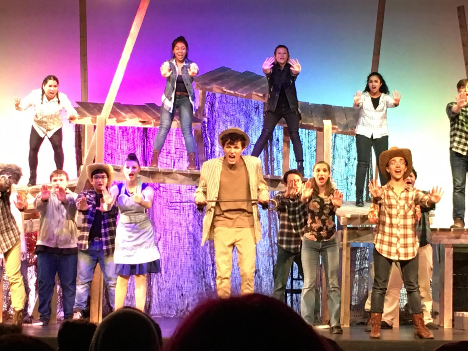 EGHS senior Nick Benjamin (center) portrays the titular character in