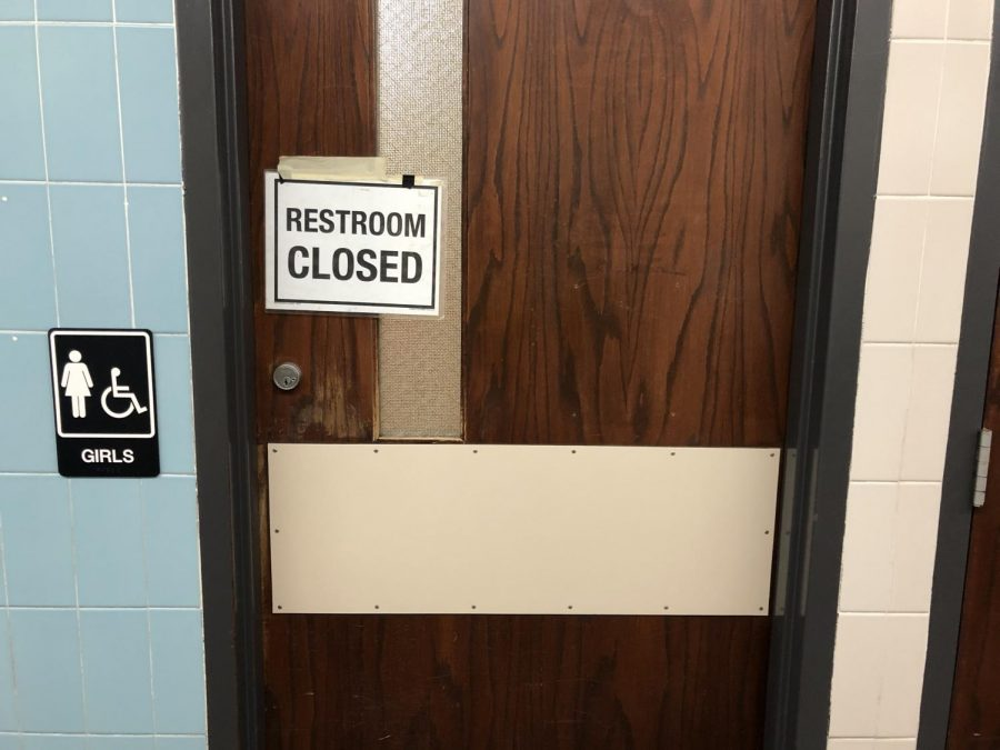 Vandalism, plumbing among bathroom-related issues